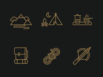 hiking-icons