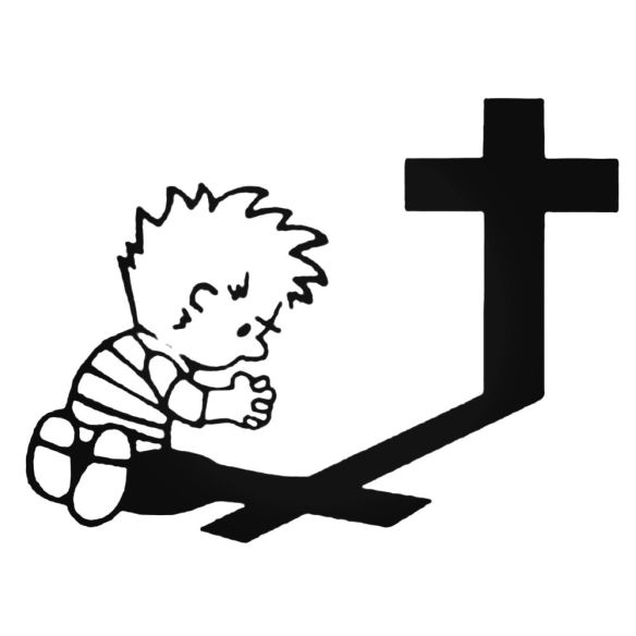 Calvin-Praying-Vinyl-Decal
